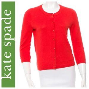 Kate Spade New York Orange Cardigan Size S